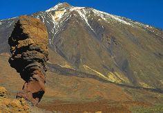 Vista de la cumbre del Teide, Tenerife, Islas Canarias.