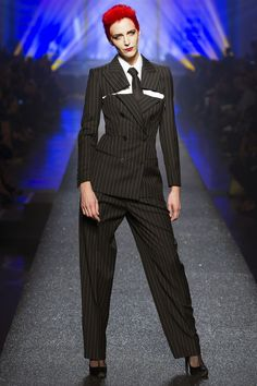 Annie Lennox influenced look at the Jean Paul Gaultier show