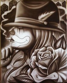 Pin by . on Clowns Chicano Art Tattoos, Chicano Drawings, Body Art Tattoos, Art Drawings, Tatoos, Gangster Drawings, Hipster Drawings, Ear Tattoos, Stomach Tattoos