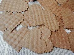 HEART DIE CUTS 24 100% Post Consumer Repurposed Charming Textured by PaperPastiche on Etsy