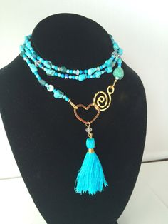 Miami Love Lariat in Turquoise