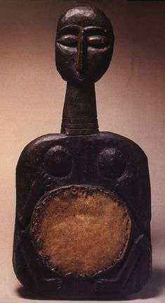 Woman-shaped drum.  Adivasi, aborginal India  (no ethnic identification  was given).