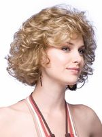 Natural Blonde Lambskin Short Wig For Woman Kinky Wavy Afro Wig Short Peruca Pelucas Pelo Corto Perruque