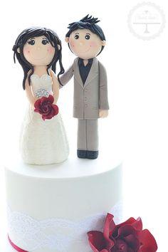 Personalised bride and groom figurines