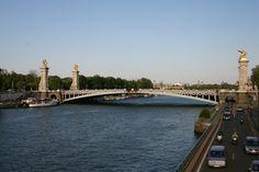 The Alexander Bridge crossing the Seine in Paris, France