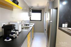 Cozinha - Cinza e laranja