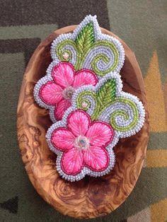 Beaded earrings, Niio Perkins (Mohawk) https://www.facebook.com/niioperkinsdesigns/photos_stream?fref=photo