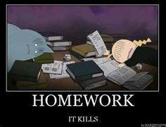 Even the Full Metal Alchemist hates homework, LOL!