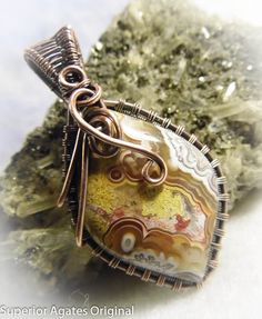 Mexican Crazy Lace Agate Wire Wrapped  Stone by superioragates, $30.00