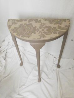 upcycled half moon table with drawer - Google Search