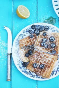 Honey waffles, {the perfect breakfast luck}.