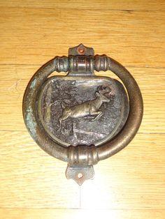 Brass Deer Door Knocker 1986 Northern Product Milwaukee WI 4.5 x 3.5 find me at www.dandeepop.com