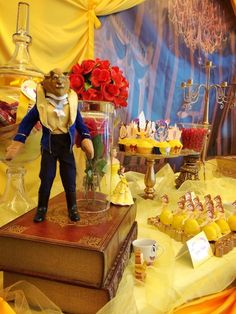 Fantastic décor at a Beauty and the Beast party. See more party ideas at CatchMyParty.com. #princessbelle #partyideas