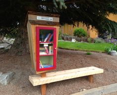 Izaak Edvalson. Colville, WA. This little free library was built mostly from recycled and reclaimed materials with different levels for the different levels and sizes of readers. Hoping that it will promote more interaction and communication within the community. Sponsored by AfricasTomorrow.org who believes that education is the first step in solving problems - locally and worldwide.