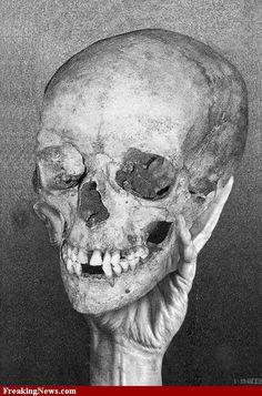 ☆ Escher hand Holding Skull :+: By Artist M.C Escher ☆