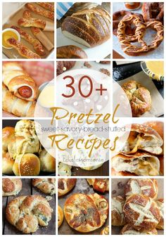 30+ Pretzel Recipes - Eclectic Momsense // savory pretzels, sweet pretzels, pretzel bread, and stuffed pretzels