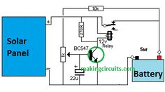 In this post we discuss elaborately an automatic solar charger circuit using a single transistor relay circuit. Simple Charger using a Battery and Solar pa