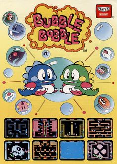 Bubble Bobble Arcade Poster
