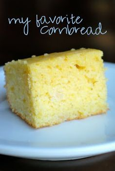 My favorite cornbread -- This is perfect cornbread! It's fluffy and not as dry as traditional which is how I love it. The kids gobbled it up and so did the hubs. This will be my go-to recipe now! YUM!