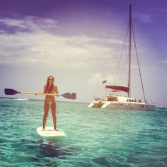 paddle boarding in Playa Norte | Isla Mujeres, Mexico | See more about paddle boarding, paddles and isla mujeres.