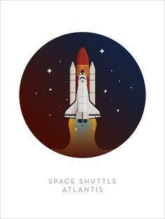 Famous Spaceships - Space Shuttle Art Print