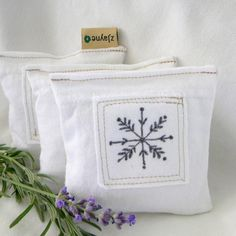 lavender sachet dryer pillow found at zJayne on Etsy.