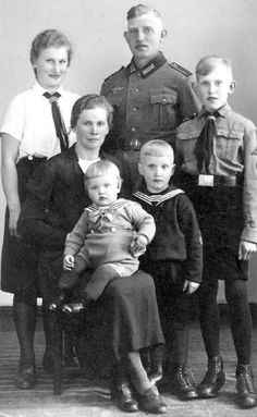 German Families   German family, Poppendorf, c. 1942-24 (Hitler Youth Uniforms)
