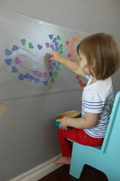 Quiet-activities-for-two-year-olds-sticky-wall-color-matching.jpg (433×650)