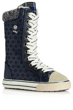 Navy Tall Leg Boots (Younger Girls)
