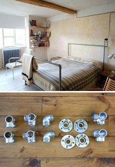 industrial look 26 stylische m bel aus rohrverbindern home pinterest m bel. Black Bedroom Furniture Sets. Home Design Ideas