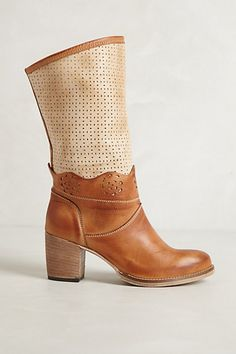 lasercut booties from anthro