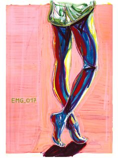 """controluce"", marking pen and watercolor marking pen, 140lb/300gsm - 45,5x61cm paper, 2017 author: ernesto maria giuffre' #painting #pen #art #woman #legs #feet"