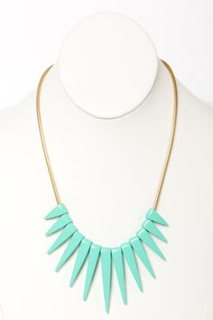 Get to the Point Necklace in Mint