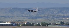 A 302nd Airlift Wing Modular Airborne Fire Fighting System-equipped C-130H departs Peterson Air Force Base early Aug. 3, 2016 enroute Boise Tanker Base, Idaho. MAFFS was activated to assist with U.S. Forest Service fire fighting efforts in the Western states. (U.S. Air Force photo/Daniel Butterfield)