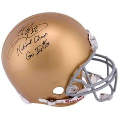 Ricky Watters Notre Dame Fighting Irish Fanatics Authentic Autographed Riddell Pro Line Authentic Helmet with National Champs & Go Irish Inscription - $499.99