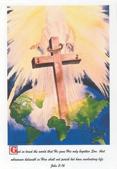 Religious Art 8 x 10 watercolor print God So by watercolorsNmore