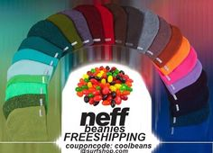 Neff Beanies - Crazy Colors... foldable, baggy, or skull fit... #tastethefabric ... Free Shipping good for 2015