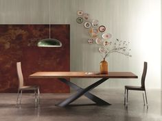 Mesa de comedor rectangular LIVING by RIFLESSI diseño RIFLESSI