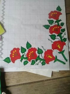 Ely, Cross Stitch Embroidery, Flower Fabric, Flowers, Embroidery Stitches, Roses, Tejidos