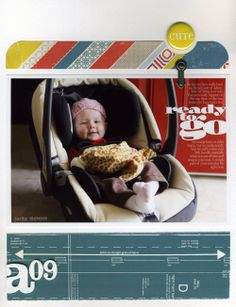 like the A09 for intial and year Scrapbook Layouts | Ali Edwards