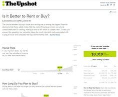 Terrific online calculator for explaining rent vs. buy home tradeoffs via New York Times