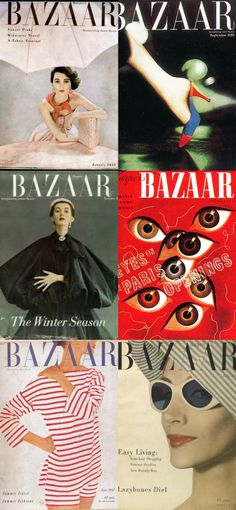 Alexey Brodovitch designed Bazaar cover for over 30 years. His elegance, combined with an element of innovation was the ideal mix for a fashion magazine.