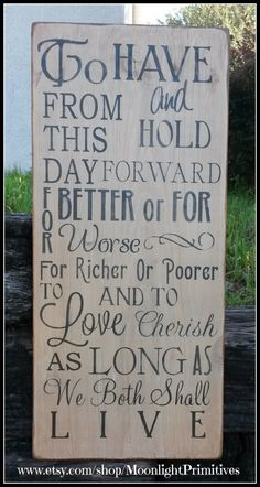 To Have And To Hold For Better Or Worse by MoonlightPrimitives, $50.00