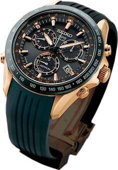 Check out this sweet gents' watch by Seiko (Astron GPS Solar Novak Djokovic Limited Edition) Amazing Watches, Best Watches For Men, Luxury Watches For Men, Beautiful Watches, Cool Watches, Best Seiko Watch, Seiko Monster, Herren Chronograph, Dream Watches