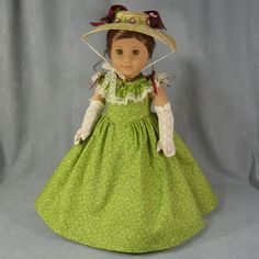 """Spring Splendor"" CW outfit by idreamofjeannemarie on ebay. Gown, hat, extra bonnet, long gloves and slip. SOLD for $85.00 on 2/25/15"