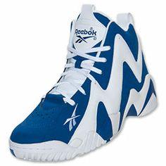 Men's Reebok Kamikaze II Basketball Shoes | FinishLine.com | Team Dark Royal/White