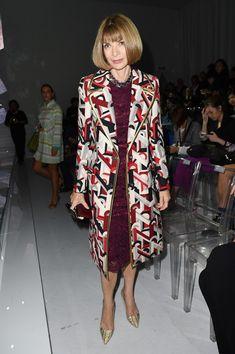 Anna Wintour Evening Coat - Anna Wintour Clothes Looks - StyleBistro