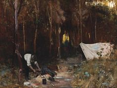 Arthur Streeton: Settler's Camp, 1888