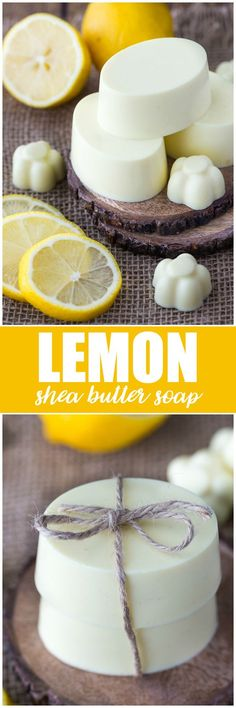Lemon Shea Butter Soap - Creamy, smooth and fresh. This beautiful DIY soap leaves skin feeling so soft and makes a lovely homemade gift. Lemon Shea Butter Soap - Creamy, smooth and fresh. Bath Recipes, Homemade Soap Recipes, Homemade Gifts, Soap Making Recipes, Homemade Butter, Homemade Cards, Diy Gifts, Diy Soap Leaves, Essential Oils Soap