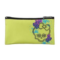 Monster High Floral #Skullette Logo Cosmetics Bags